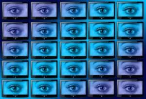 monitore mit Augen